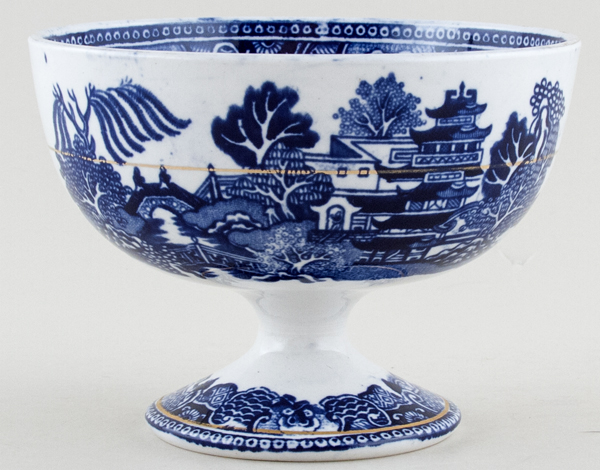 Unattributed Maker Two Temples Footed Bowl small c1890