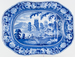 Meat Dish with Tree and Well c1825