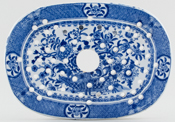 Minton Basket of Flowers Drainer small c1820