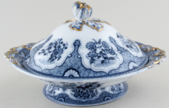 Minton Mooltan grey Covered Dish c1851