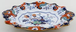 Ashworth Unidentified Pattern colour Dish c1860