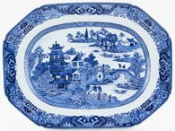Unattributed Maker Two Temples Meat Dish or Platter c1780