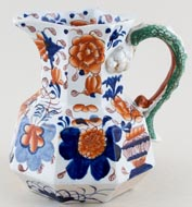 Unattributed Maker Japan Basket blue with colour Jug or Pitcher c1830