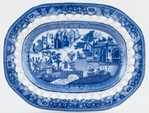Unattributed Maker Fisherman and Castle Platter small c1810