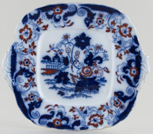 Unattributed Maker Amherst Japan colour Bread and Butter or Cake Plate c1840