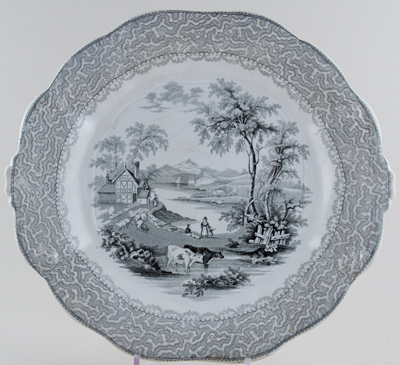 Challinor Rural grey Soup Tureen Stand c1850
