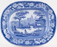 Unattributed Maker Wild Rose Platter small c1840