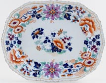 Hicks and Meigh Number 33 colour Meat Dish or Platter c1825