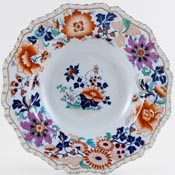 Hicks and Meigh Number 33 colour Soup Plate c1825