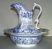 Ewer and Bowl c1835