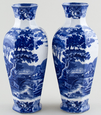 Adams Cattle Scenery Vases Pair c1910