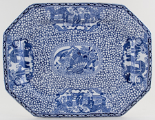 Adams Chinese Bird Meat Dish or Platter c1929