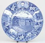 Plate New Salem Lincoln c1950s