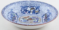 Adams Chinese Bird blue with colour Bowl c1934