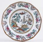Adams Shanghai black with colour Soup Plate c1910