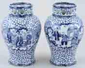 Vases pair of c1930s