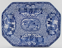 Adams Chinese Bird Meat Dish or Platter c1923