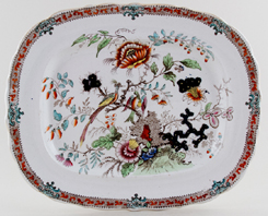Alcock Number 25 colour Meat Dish or Platter c1839