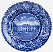 British Anchor American Commemorative Plate The White House c1960s
