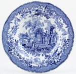 Ashworth Ancient Ruins Soup Plate c1900