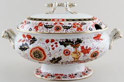 Ashworth Old Japan Vase colour Soup Tureen c1875