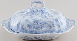 Covered Vegetable Dish c1880