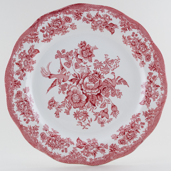 Wedgwood and Co Asiatic Pheasants pink Charger c1970s