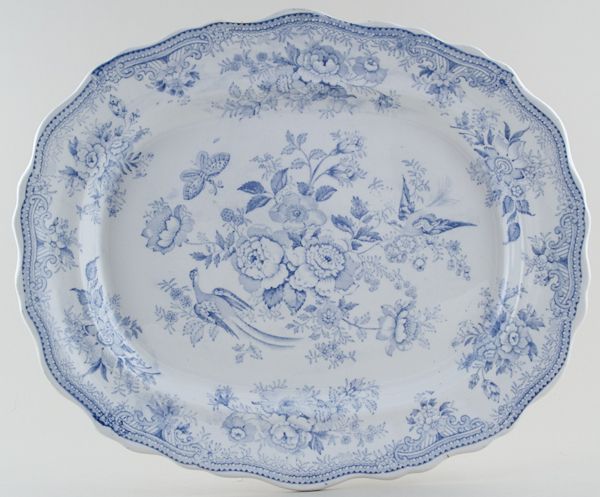 Booths Asiatic Pheasants Meat Dish or Platter c1870