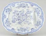 Meat Dish or Platter with tree and well c1880