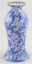 Bourne and Leigh May Blossom blue with colour Vase c1930s