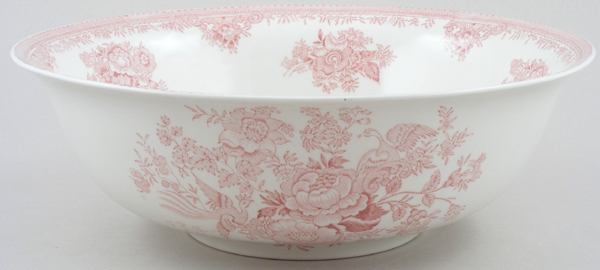 Burleigh Asiatic Pheasants pink Fruit or Salad Bowl large