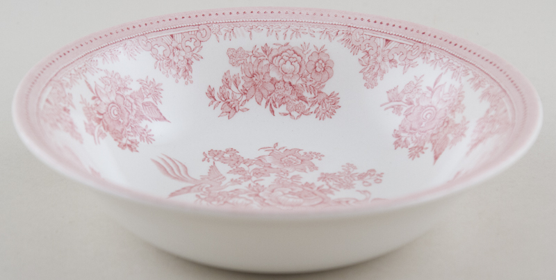 Burleigh Asiatic Pheasants pink Dessert or Soup Bowl
