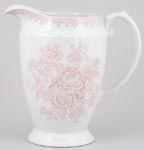 Burleigh Asiatic Pheasants pink Jug or Pitcher Princess