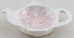 Burleigh Asiatic Pheasants pink Teabag Tidy in Gift Box