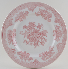 Burleigh Asiatic Pheasants pink Plate large