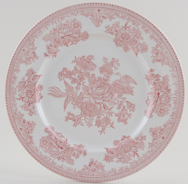 Burleigh Asiatic Pheasants pink Lunch Plate