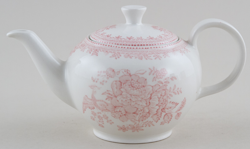 Burleigh Asiatic Pheasants pink Teapot small
