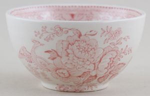 Burleigh Asiatic Pheasants pink Sugar Bowl small
