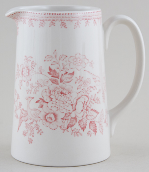 Burleigh Asiatic Pheasants pink Jug or Pitcher Tankard medium