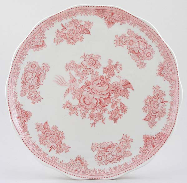 Burleigh Asiatic Pheasants pink Cake Plate