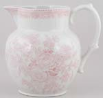 Burleigh Asiatic Pheasants pink Jug or Pitcher Etruscan small