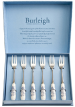 Burleigh Asiatic Pheasants Pastry Forks set of 6
