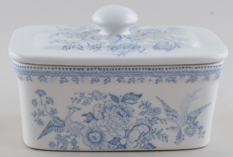 Burleigh Asiatic Pheasants Butter Dish