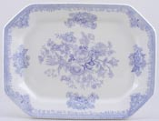 Burleigh Asiatic Pheasants Meat Dish or Platter rectangular medium large