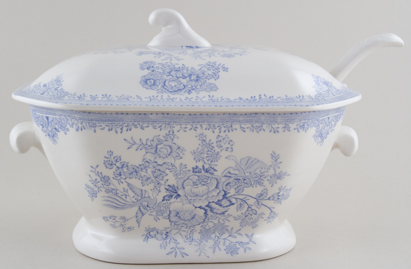 Burleigh Asiatic Pheasants Soup Tureen with Ladle