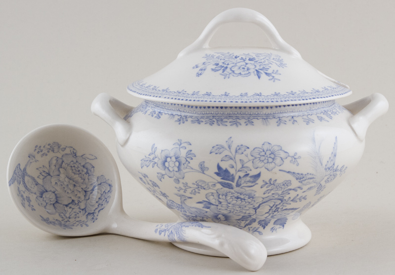 Burleigh Asiatic Pheasants Sauce Tureen with Ladle