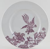 Burleigh Asiatic Pheasants plum Accent Plate