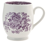 Burleigh Asiatic Pheasants plum Mug Footed