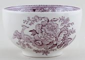 Burleigh Asiatic Pheasants plum Sugar Bowl medium
