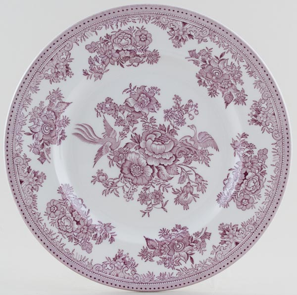 Burleigh Asiatic Pheasants plum Dinner Plate  sc 1 st  Lovers of Blue \u0026 White & China by top British brands Burleigh Spode Portmeirion Johnson ...